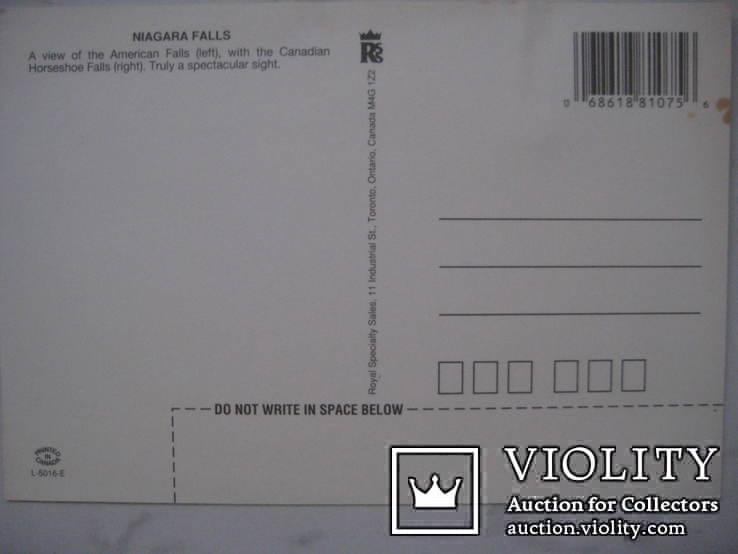 Канадская почтовая открытка Ниагарский водопад, фото №3