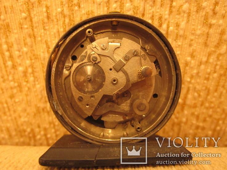 Часы будильник Ракета черный циферблат, фото №5