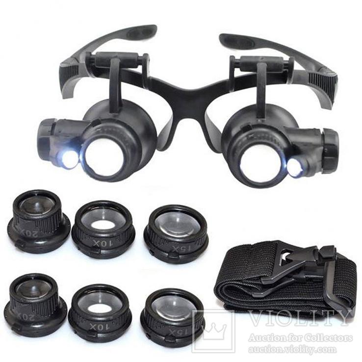 Ювелирные очки-линзы (25х зум подстветка)