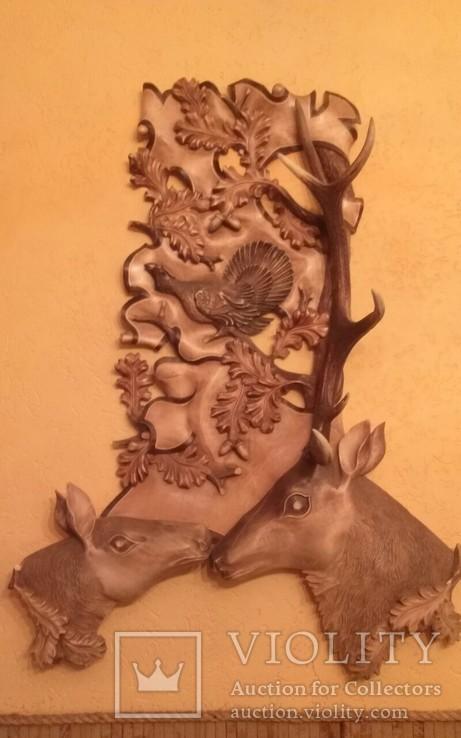 Подставка оленей с натуральным рогом оленя