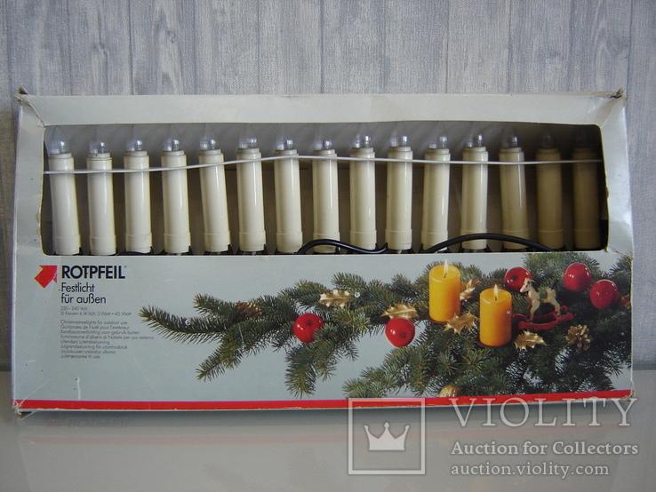 Елочная гирлянда 15 свечей на прищепке ROTPFEIL. Германия., фото №9