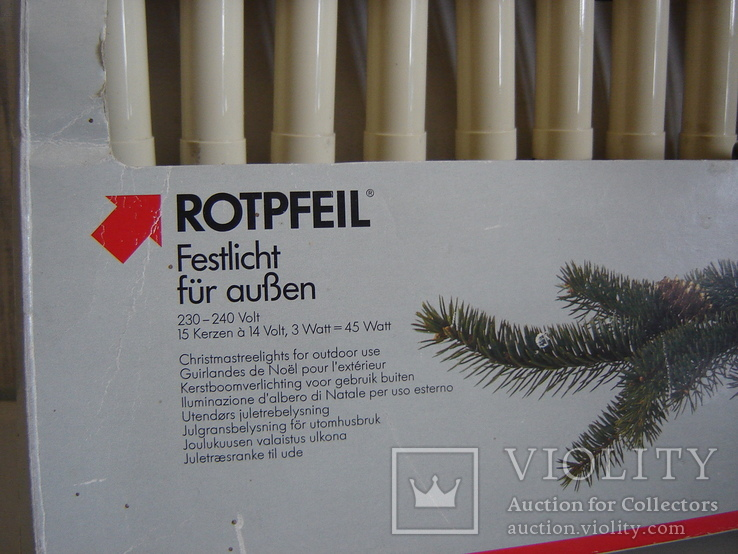Елочная гирлянда 15 свечей на прищепке ROTPFEIL. Германия., фото №10