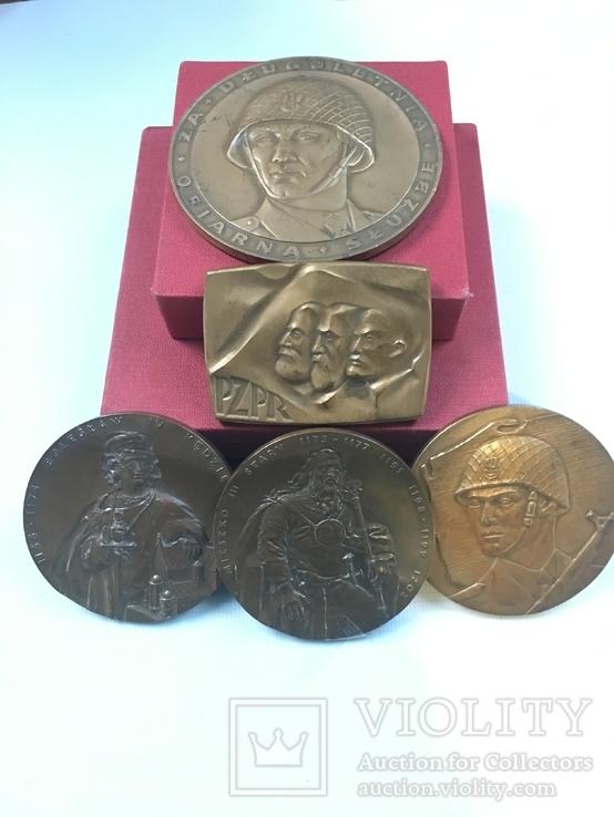Медалі настільні 8шт. (польскі), фото №2