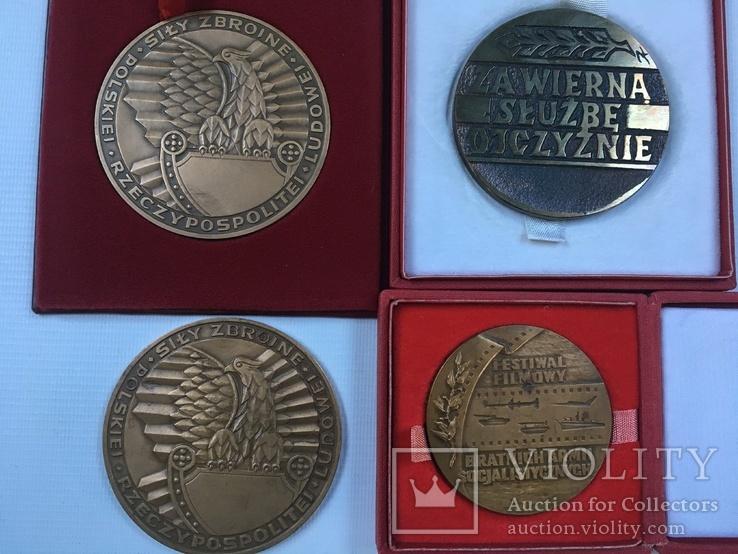 Медалі настільні 8шт. (польскі), фото №8