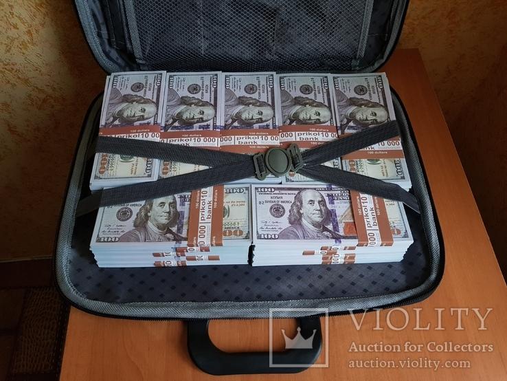 №2, Сумка-дипломат с деньгами 100 $ долларов ( Муляж) Бутафорские деньги, фото №5