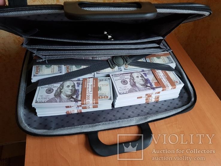 №2, Сумка-дипломат с деньгами 100 $ долларов ( Муляж) Бутафорские деньги, фото №7