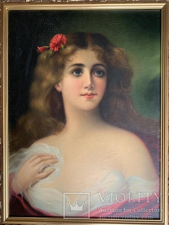 Женский портрет, без подписи, 52*39, фото №3