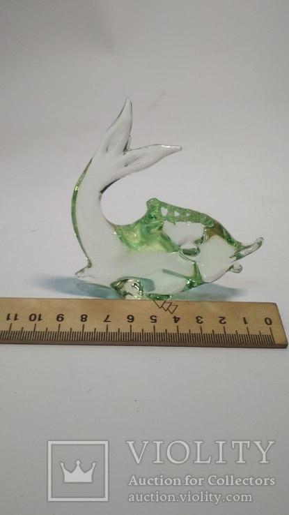 Рыбка,урановое стекло, фото №4