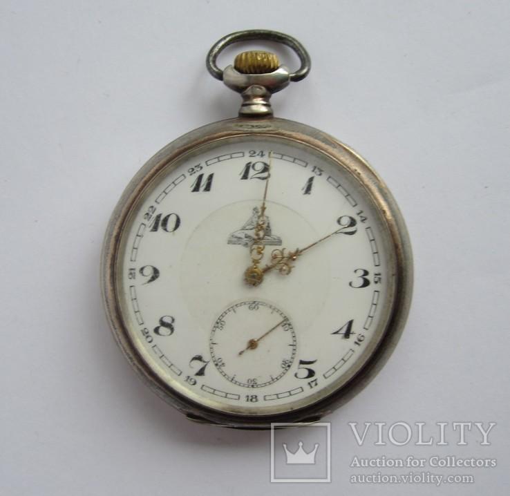 Часы карманные серебро 800 пробы Швейцария рабочие Spiral Breguet