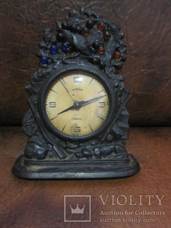 Часы Севани в подчаснике литье КУСА.- охота