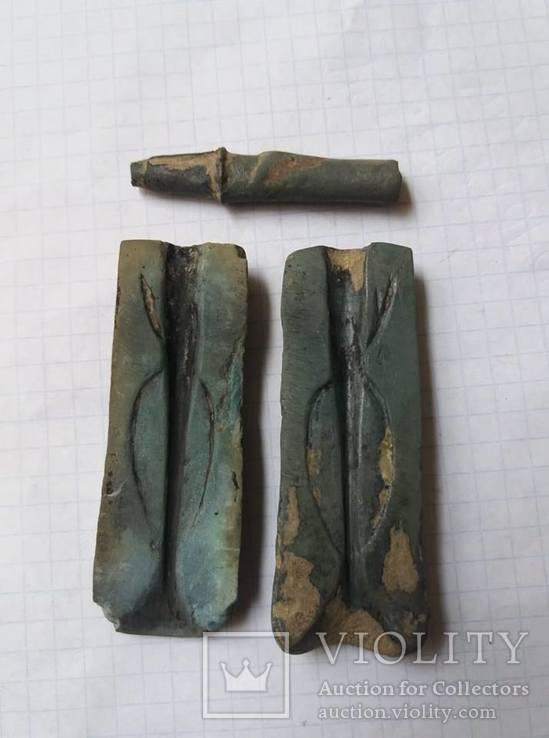 Форма для литья двухлопастных скифских наконечников