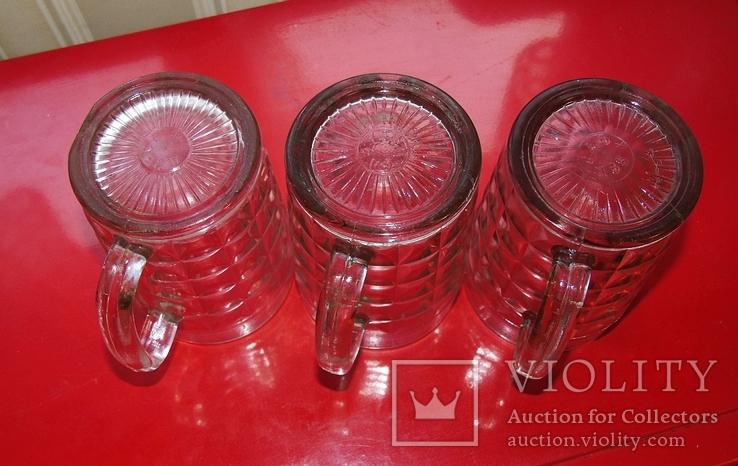 Три пивних кухлі, бокалы, фото №3