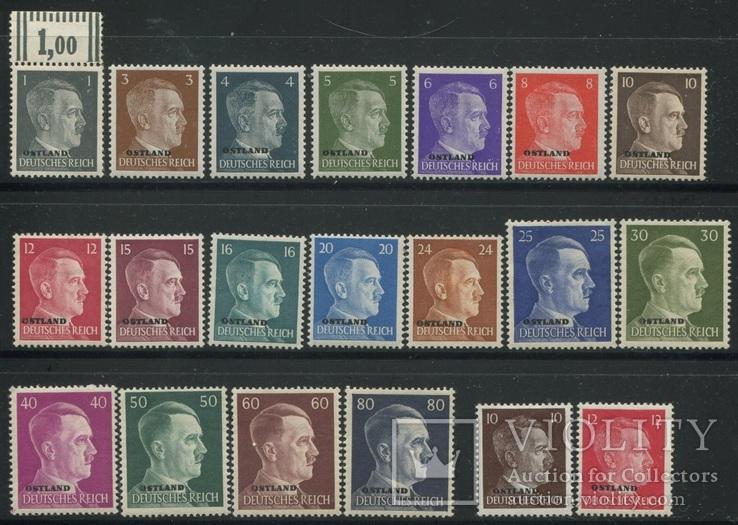 1941-43 Рейх оккупация Прибалтики Ostland полная серия все 20 марок
