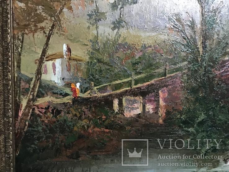 Картина маслом на холсте ′Мельница де Кике-Грон в Шарантоне′ 2007 г., фото №5