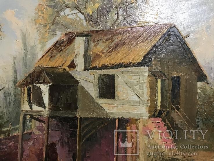 Картина маслом на холсте ′Мельница де Кике-Грон в Шарантоне′ 2007 г., фото №6