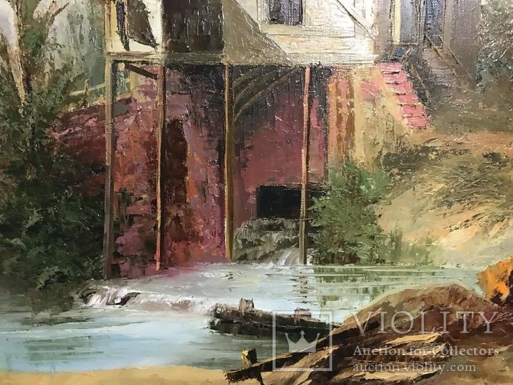 Картина маслом на холсте ′Мельница де Кике-Грон в Шарантоне′ 2007 г., фото №7