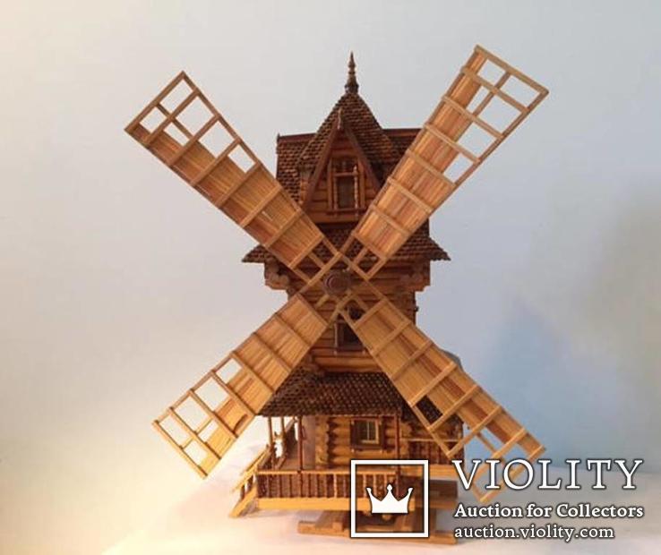 Мельница деревянная