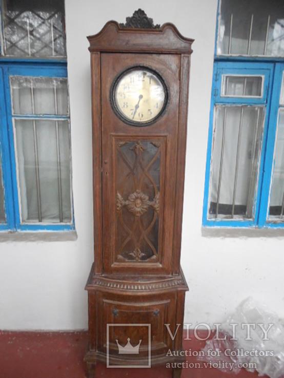 Большие Германские напольные часы Gustav Becker корпус и механизм