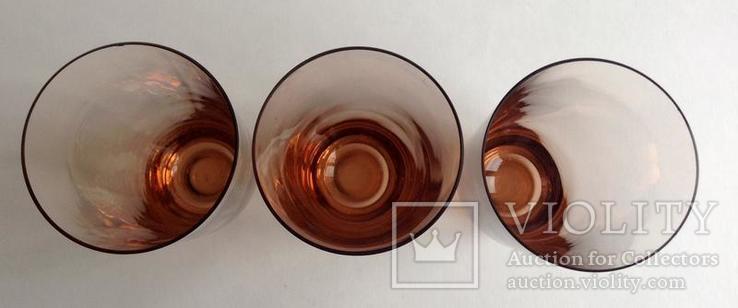 Стаканы Персиковые. 3 шт. Цветное стекло., фото №5