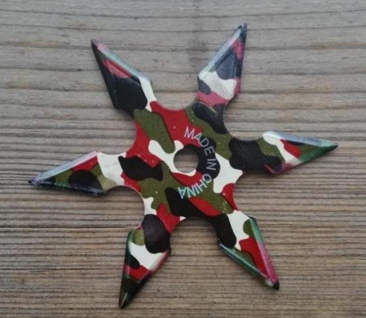 Сюрикен шестилучевой camo, фото №3