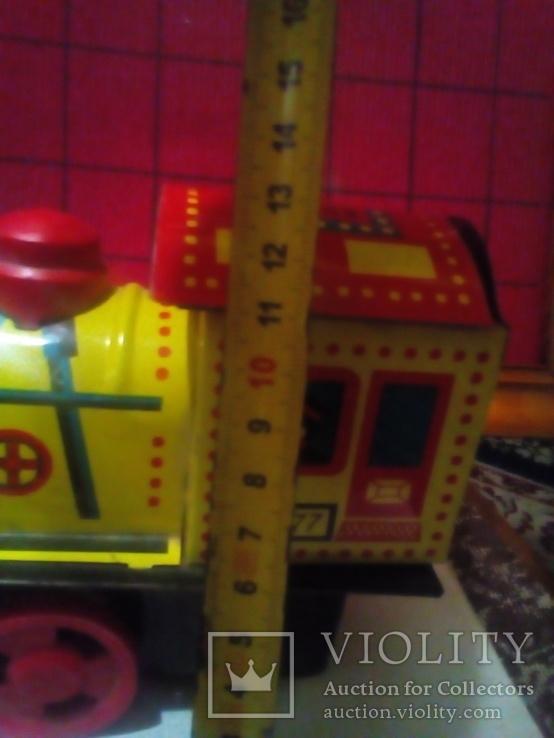 Игрушка ссср  Паровоз 05-77. Метал есть клейма., фото №8
