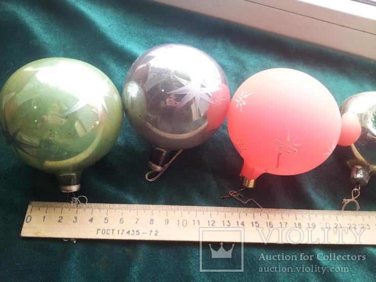 Елочные игрушки шары 9шт, фото №5