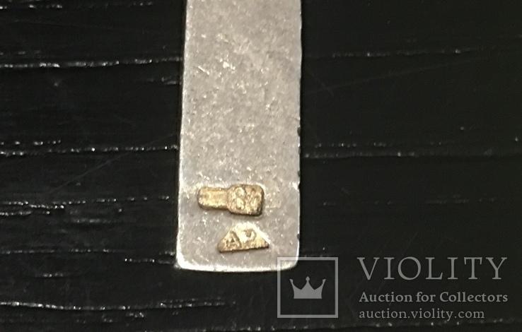 Крестик нательный с эмалью серебро 84, фото №4