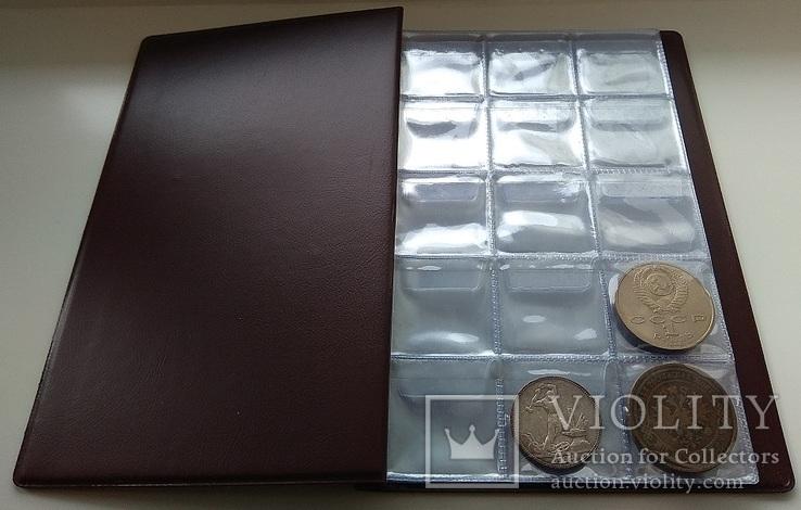 Альбом для монет 240 средних ячеек (35*35 мм)