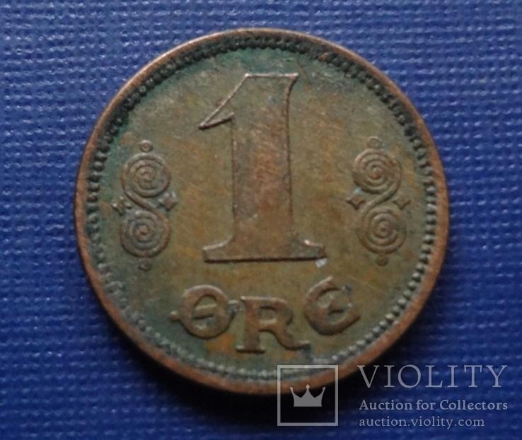 1 эре 1921  Дания    (Г.5.65)~, фото №2