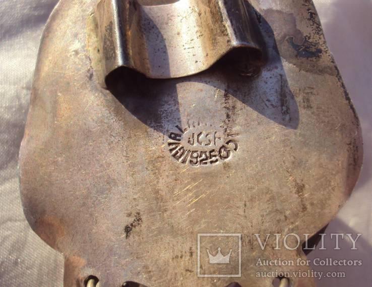 Боло серебро 925, резьба по камню(невыкуп)., фото №6