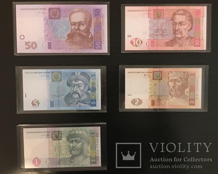 Комплект банкнот в оргстекле. Официальный выпуск НБУ, фото №3