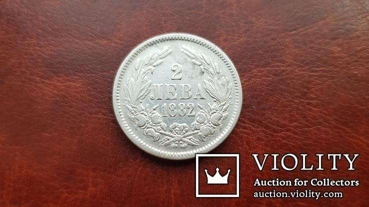 2 лева 1882 р. Болгарія, фото №2