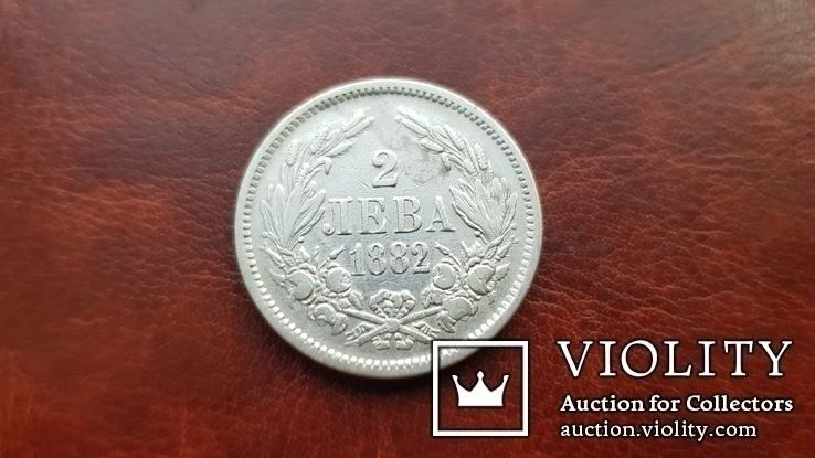2 лева 1882 р. Болгарія, фото №4