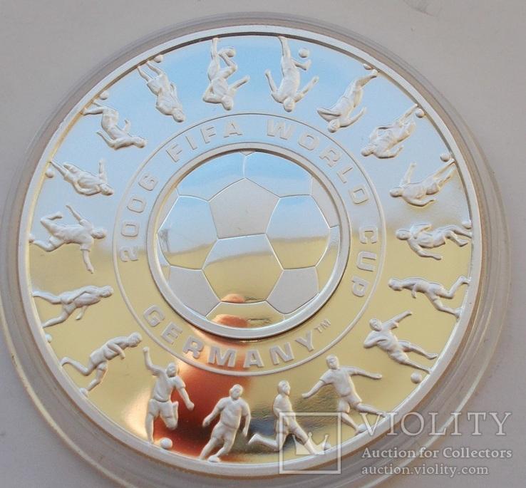 1 доллар + 25 центов 2006 г. Чемпионат мира по футболу в Германии.