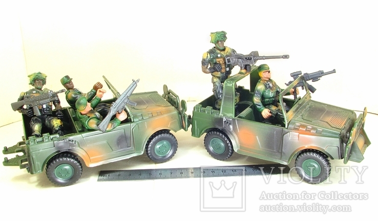 Новые большие и реалистичные фигурки солдат и техники Десантная рота США, фото №6