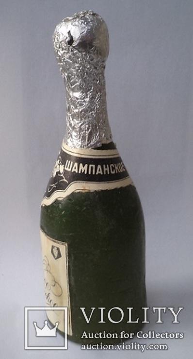 """Восковая бутылка. """"Советское шампанское"""", фото №3"""