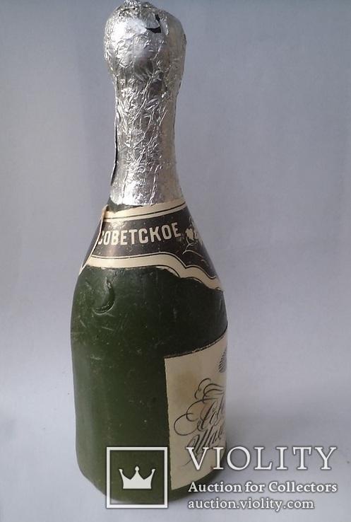 """Восковая бутылка. """"Советское шампанское"""", фото №5"""