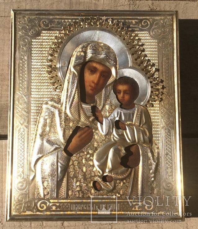 Икона Иверская Богородица 84 в горящей позолоте