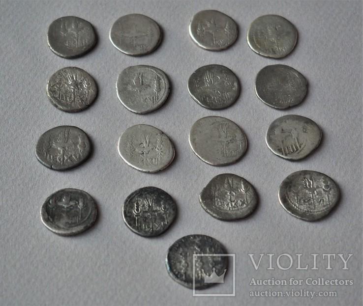 Коллекция легионных денариев Марка Антония, 17шт.
