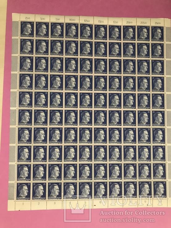 Лист марок . Надпечатка Ukraine. Оккупация Украины