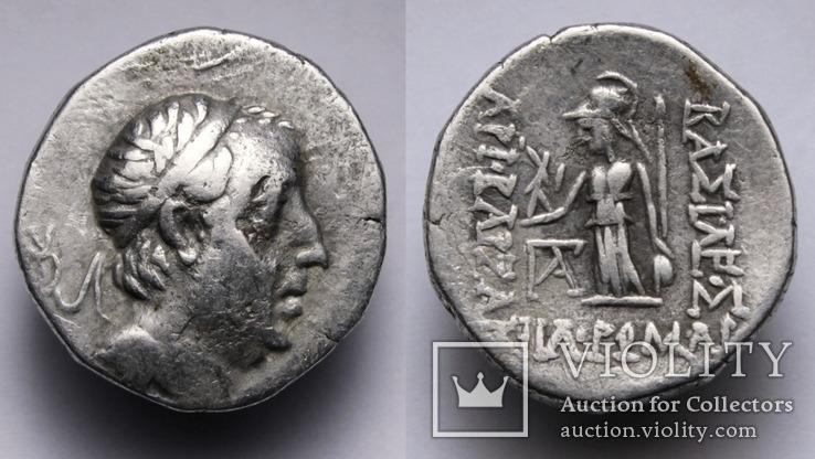 Каппадокійське царство, срібна драхма Аріобарзана I Філоромея, 96-63 до н.е., м.Євсебія