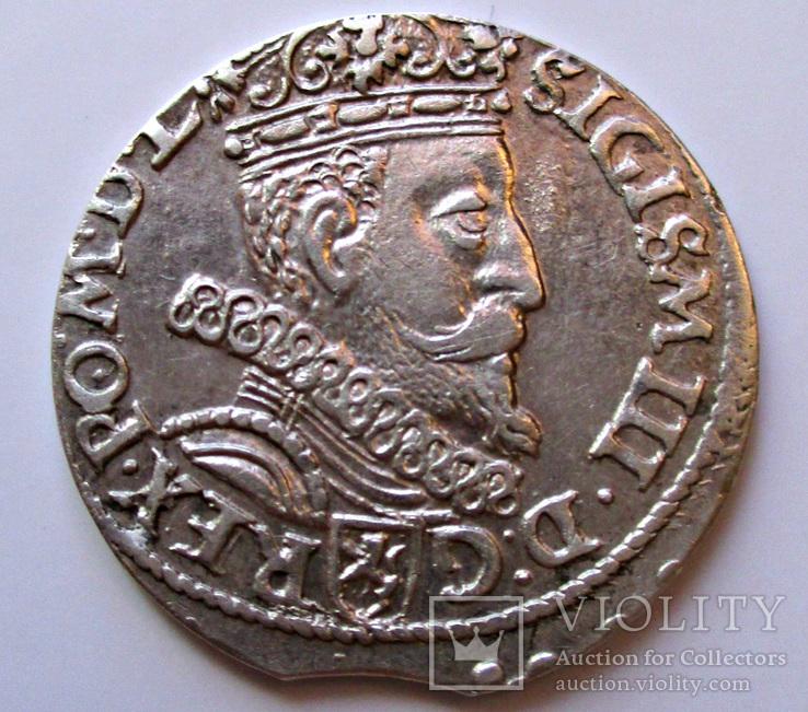 Трояк 1602 года, развернута 2 в дате (Копицкий - R1)