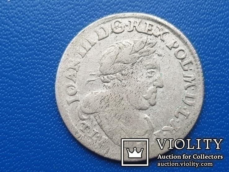 6 грош 1680 г. Ян ІІІ Собесский, фото №2