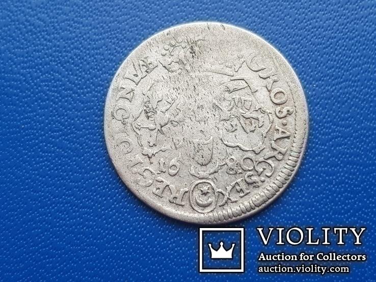 6 грош 1680 г. Ян ІІІ Собесский, фото №6