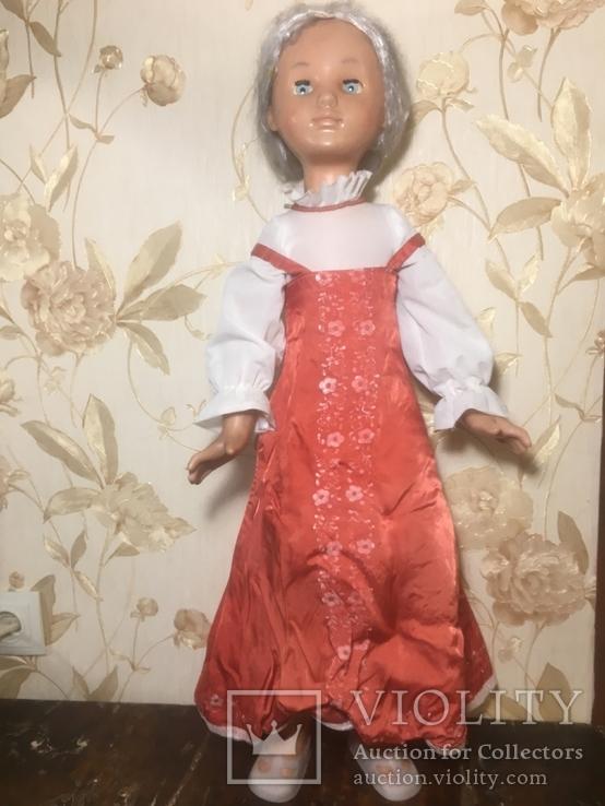 Кукла СССР Паричковая  Настенька 76 см Румяная