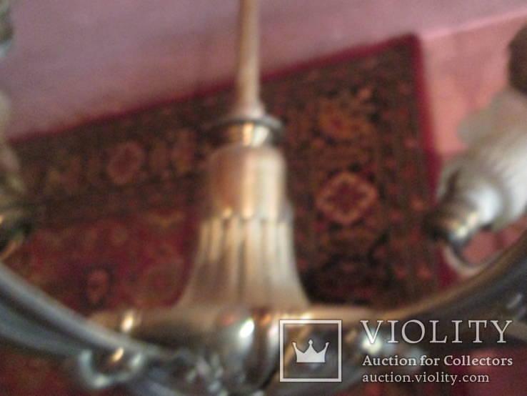 Люстра 5 рожковая латунь, фото №9