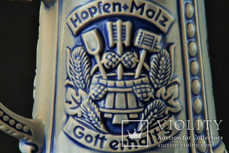 Коллекционная пивная кружка Hopfen-Malz, фото №6
