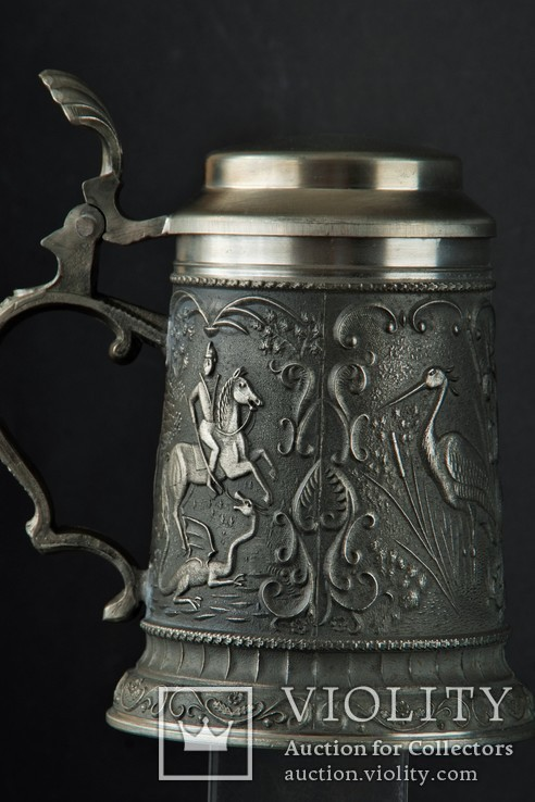 Уникальная  пивная кружка Рыцарь Олень Цапля, фото №3