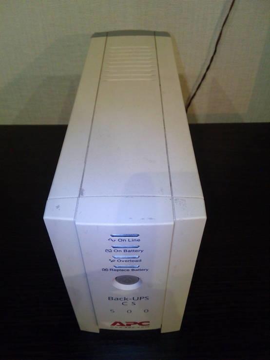 UPS ИБП УПС APC Back-UPS CS-500 VA с аккумулятором, фото №3