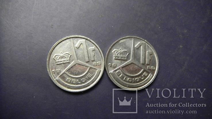 1 франк Бельгія 1989 (два різновиди), фото №2